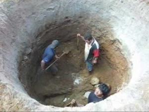 excavating-a-well